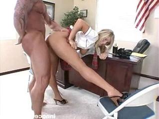 blonde  busty  college
