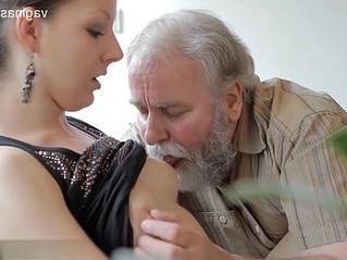 creampie  girl  grandpa