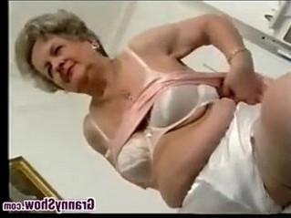 grandma  naughty  striptease