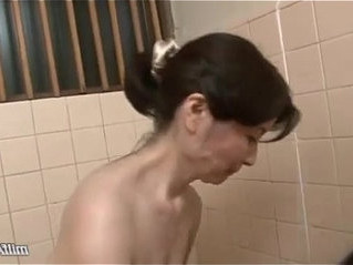 bathroom   cock   mature