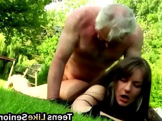 brunette   horny   old and young